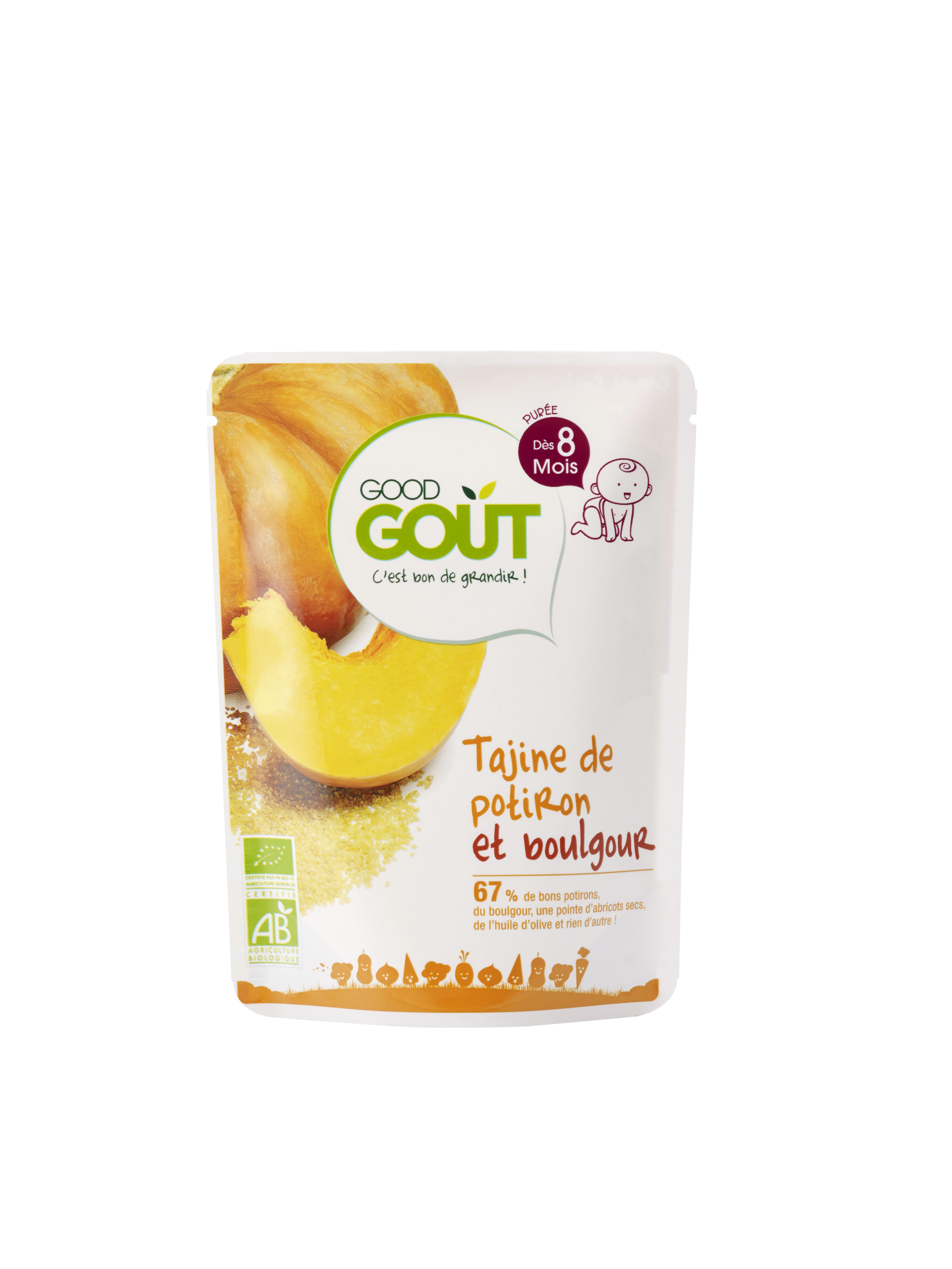 Tajine de potiron et boulgour BIO - dès 8 mois, Good Goût (190 g)