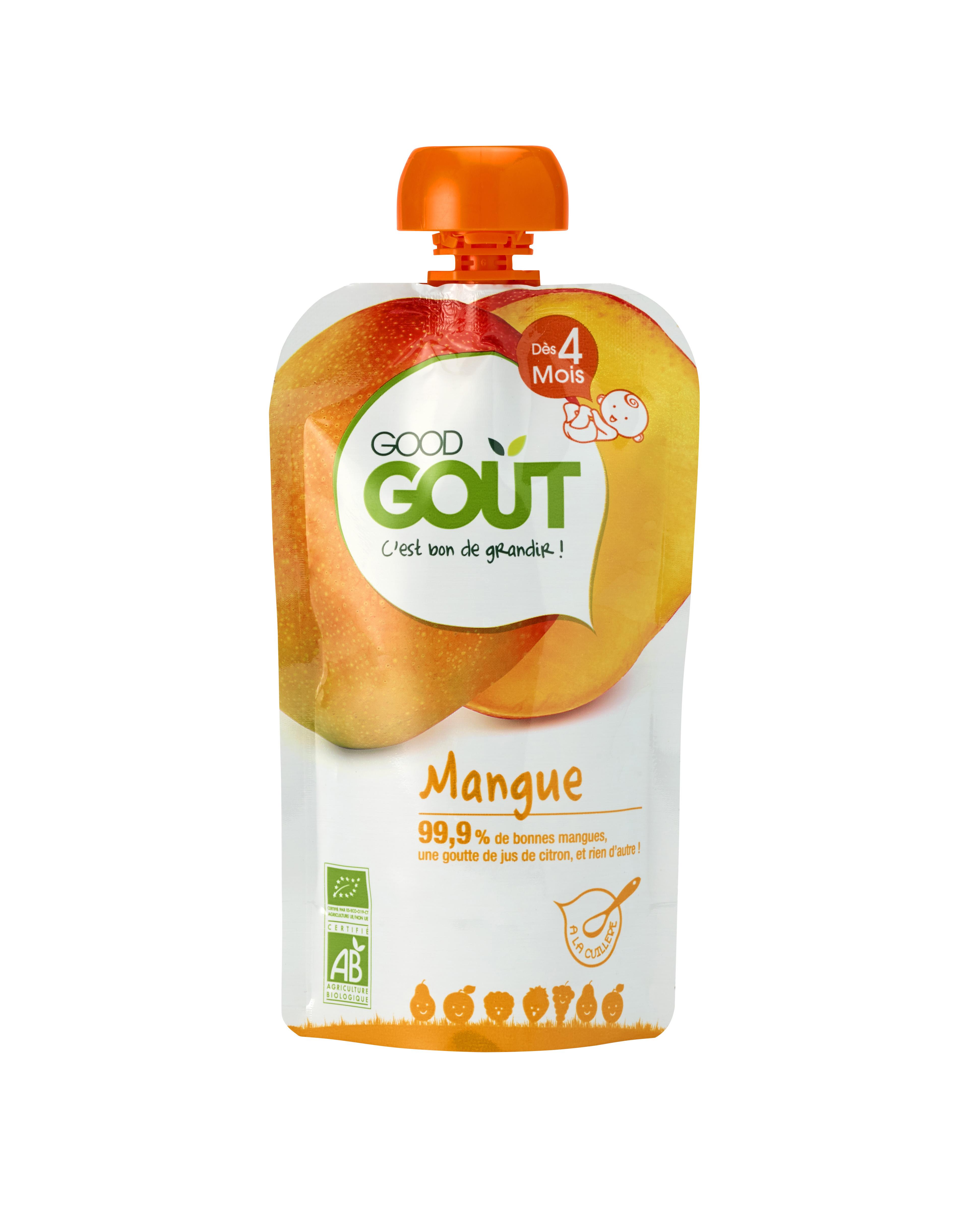 Good Gourde Mangue BIO, Good Goût (120 g) - dès 4 mois