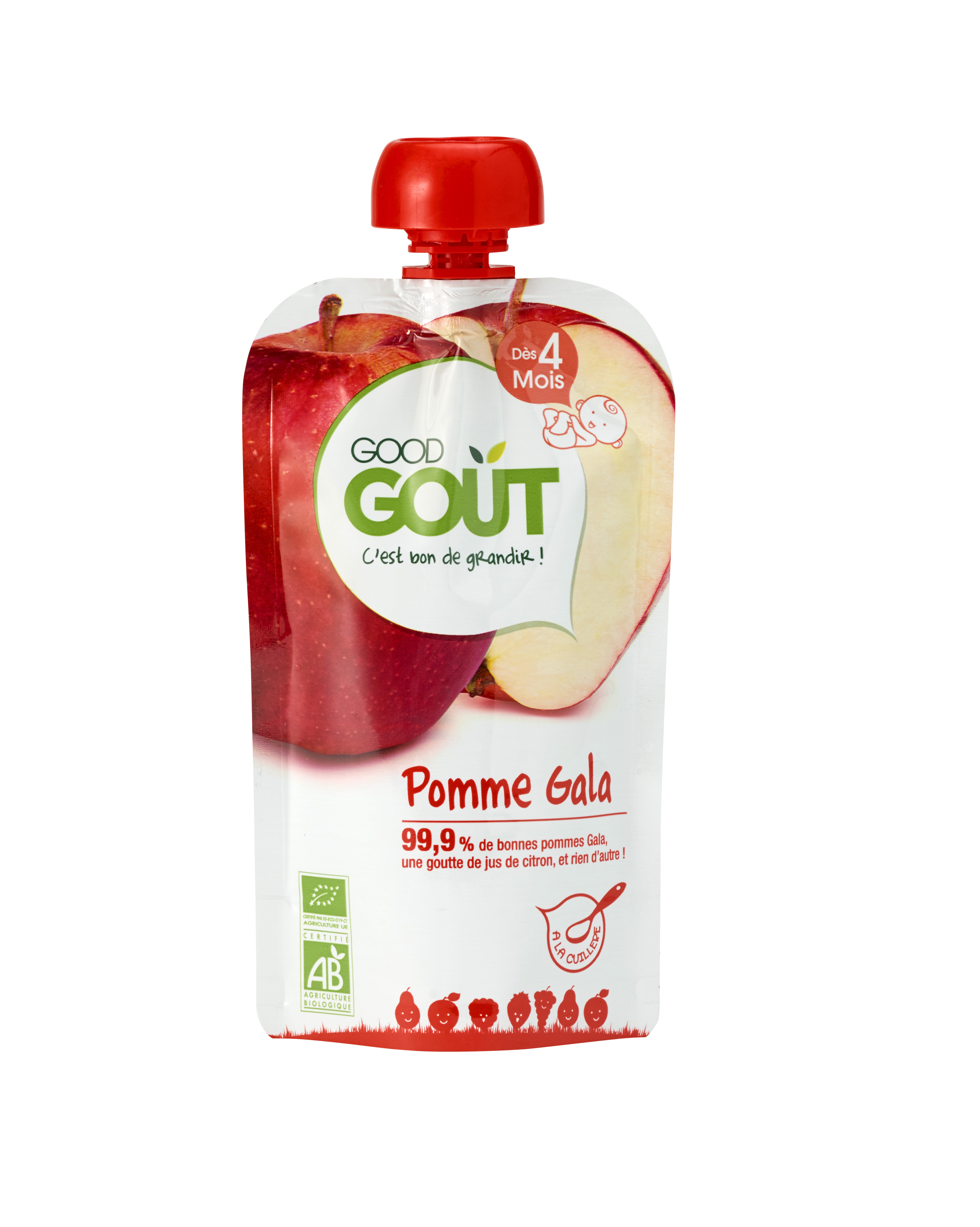 Good Gourde Pomme Gala BIO, Good Goût (120 g) - dès 4 mois