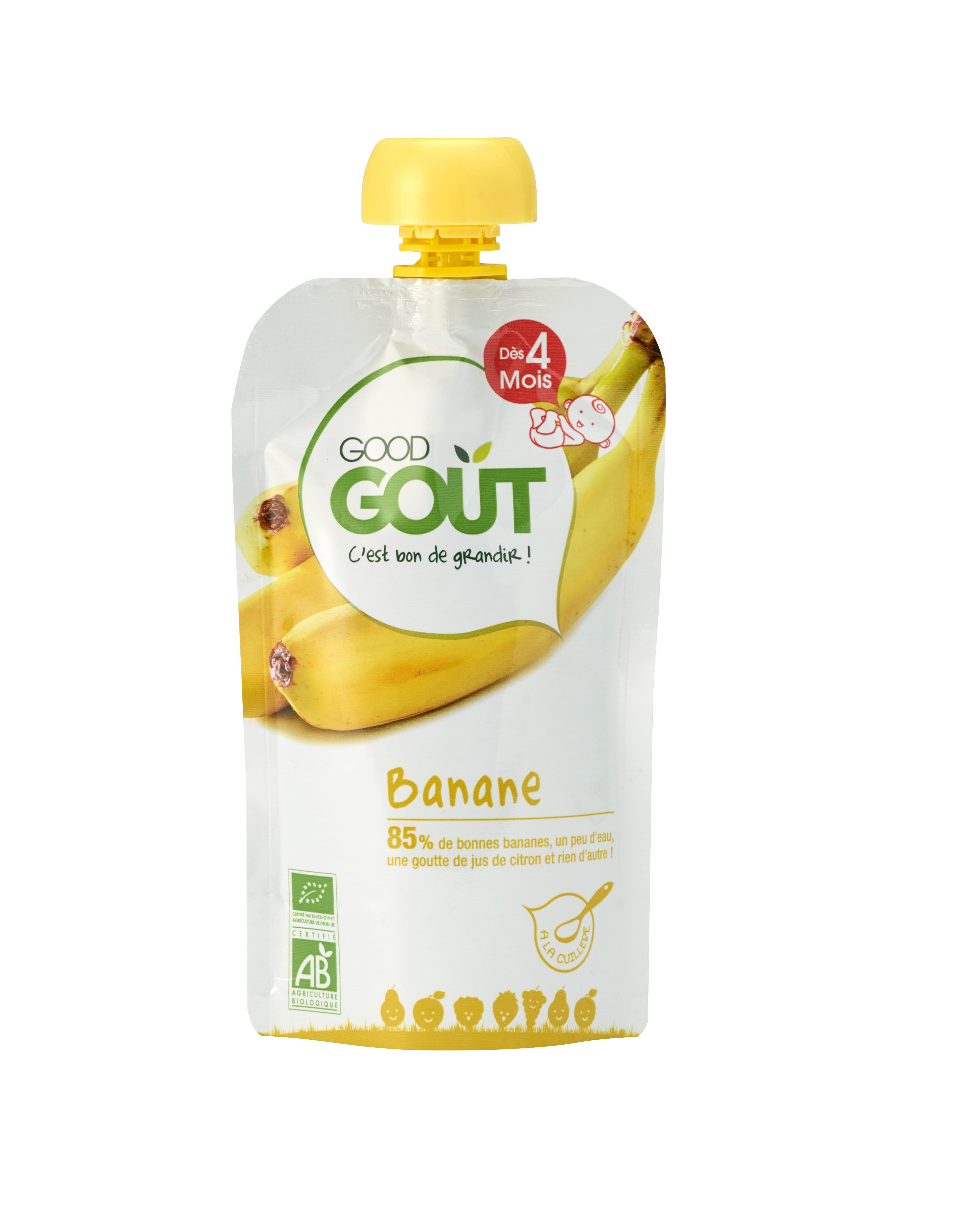 Good Gourde Banane BIO, Good Goût (120 g) - dès 4 mois