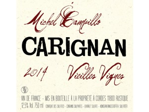 Michel Campillo Carignan rouge 2015