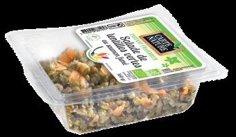 Salade de lentilles vertes au saumon fumé BIO, Carte Nature (160 g)