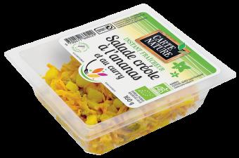 Salade créole à l'ananas et au curry BIO, Carte Nature (160 g)