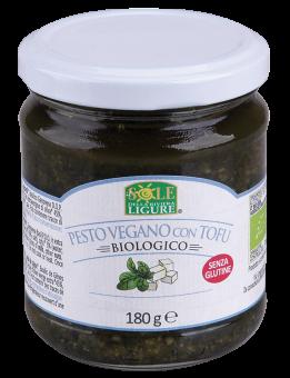 Pesto Vegan  avec tofu, 100 % végétal BIO, Il Sole della rivier (180 g)