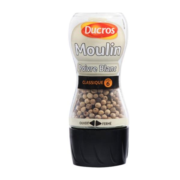 Moulin poivre blanc Ducros (39 g)