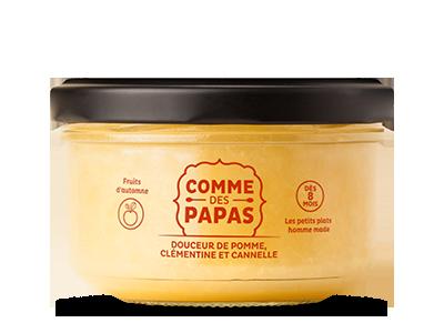 Douceur de pomme, clémentine et cannelle BIO - 8 mois, Comme des Papas (130 g)