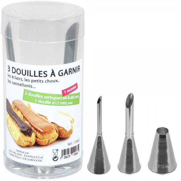 Douilles inox (3 embouts différents) Chevalier Diffusion