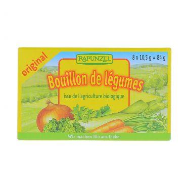 Bouillon cubes de légumes BIO, Rapunzel (x 8, 84 g)