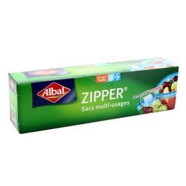 Sac multi-usages Zipper petits - 20x15 cm, Albal (x 12)