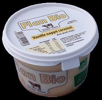 Flan vanille nappé caramel, Ferme Durr (500 g)