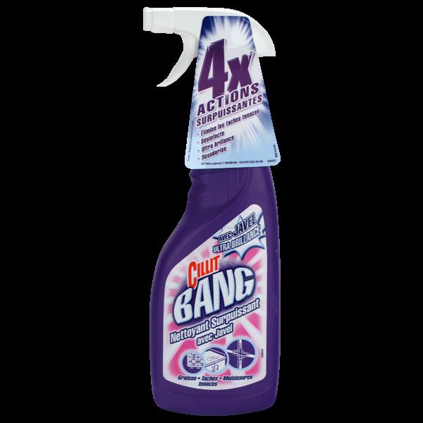 Nettoyant pistolet javel tâches et moisissures, Cilit bang (75 cl)