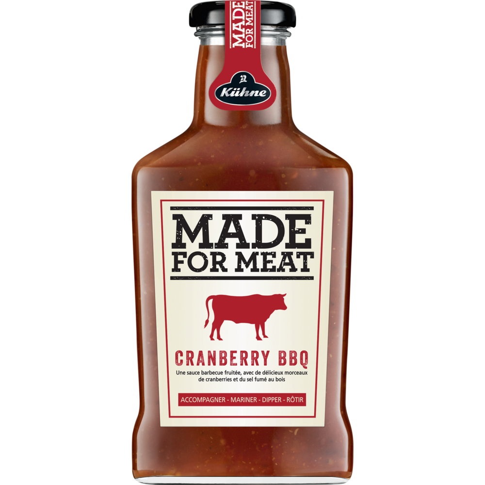 Sauce cranberry BBQ made for meat, Kuhne (375 ml)