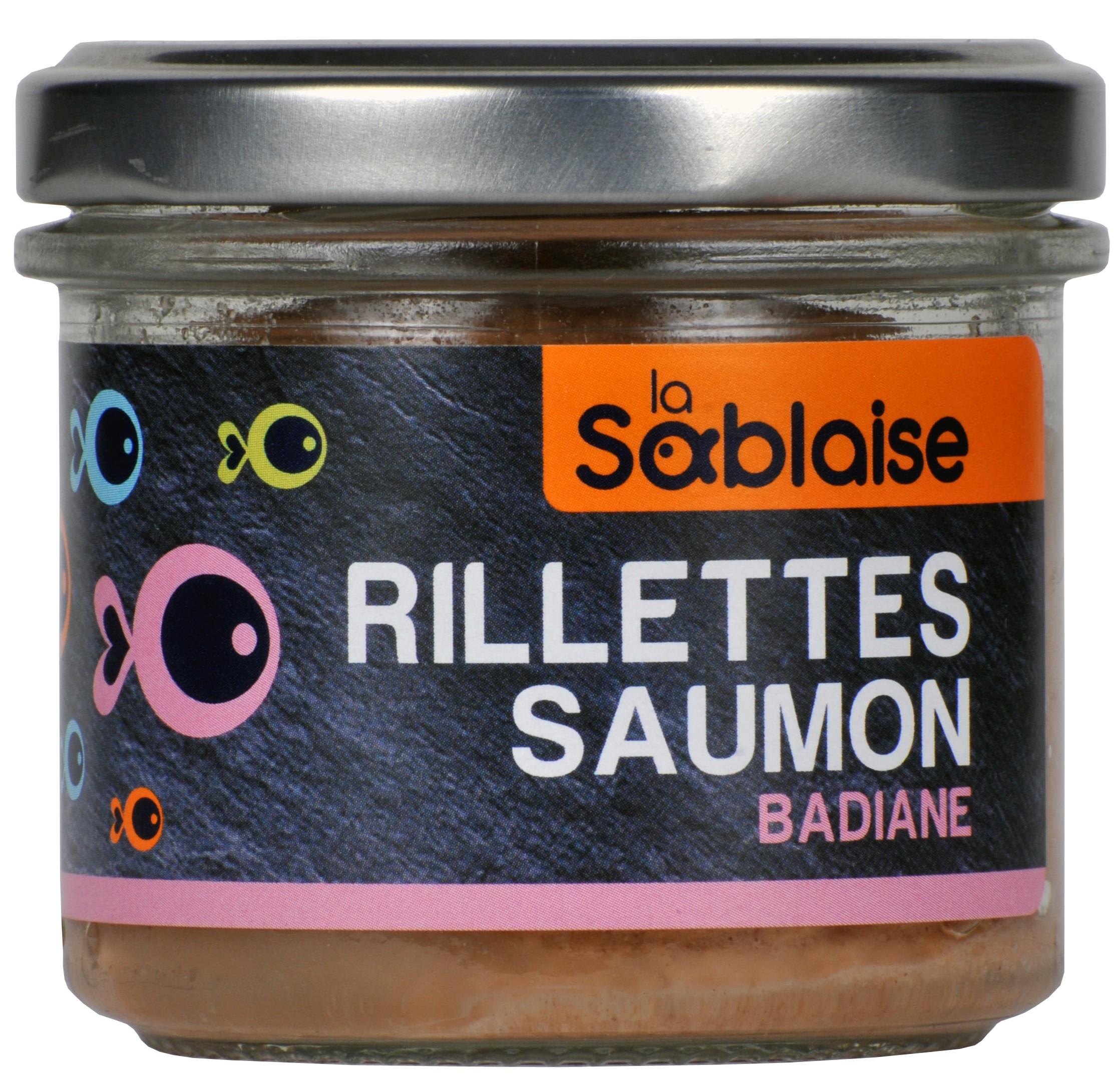 Rillettes de saumon à la badiane, La Sablaise (90 g)
