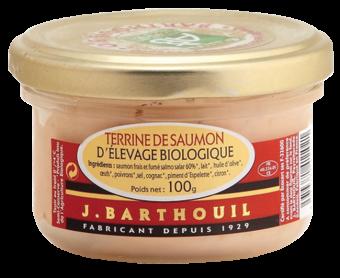 Terrine de saumon BIO, Barthouil (100 g)