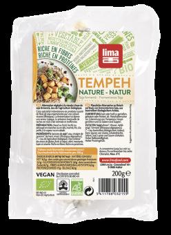 Tempeh frais nature avec soja, Lima Frais (200 g)
