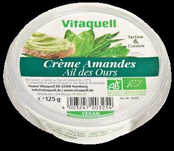 Crème à base d'amandes ail des ours BIO, Vitaquell (125 g)
