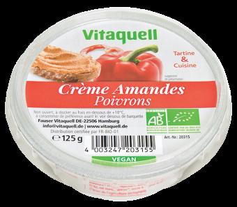Crème à base d'amandes poivrons BIO, Vitaquell (125 g)