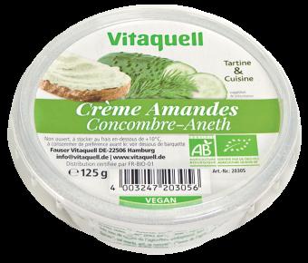 Crème à base d'amandes concombre-aneth BIO, Vitaquell (125 g)