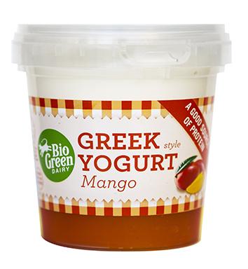 Yaourt a la grecque à la mangue, Bio Green Dairy (170 g)