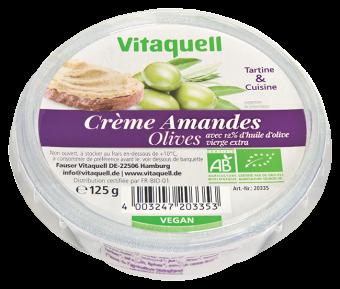 Crème à base d'amandes olives BIO, Vitaquell (125 g)