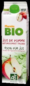 Jus de pomme frais BIO 100% pur jus, Planète Bio (1 L)