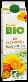 Jus multifruits frais BIO 100% pur jus, Planète Bio (1 L)