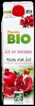 Jus de grenade frais BIO 100% pur jus, Planète Bio (1 L)