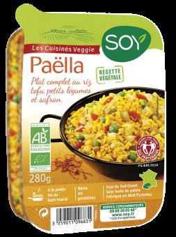 Paella veggie - riz, tofu et petits légumes BIO, Soy (280 g)
