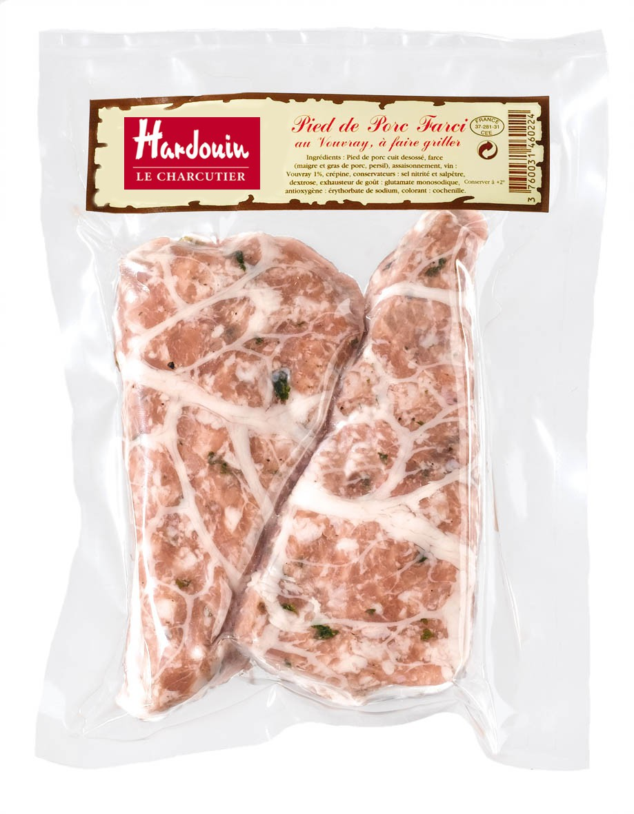 Pieds de porc farcis, Hardouin (x 2, 300g)