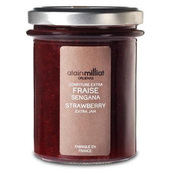 Confiture Extra Fraise Sengana, Alain Milliat (230 g)