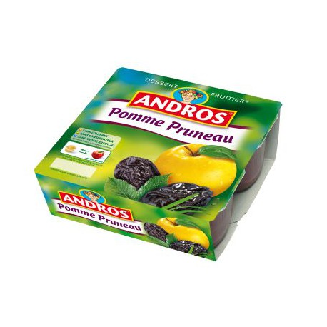 Compote pomme/prune, Andros (4 x 100 g)