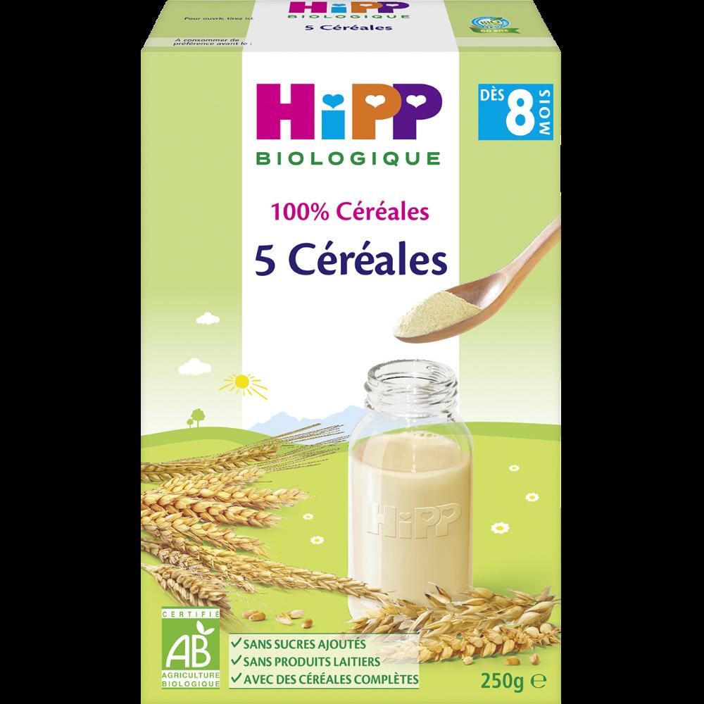 100% céréales 5 céréales BIO - dès 8 mois, Hipp (250 g)