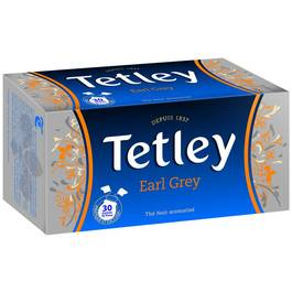 "Thé Earl Grey ""tir press"", Tetley (30 sachets)"