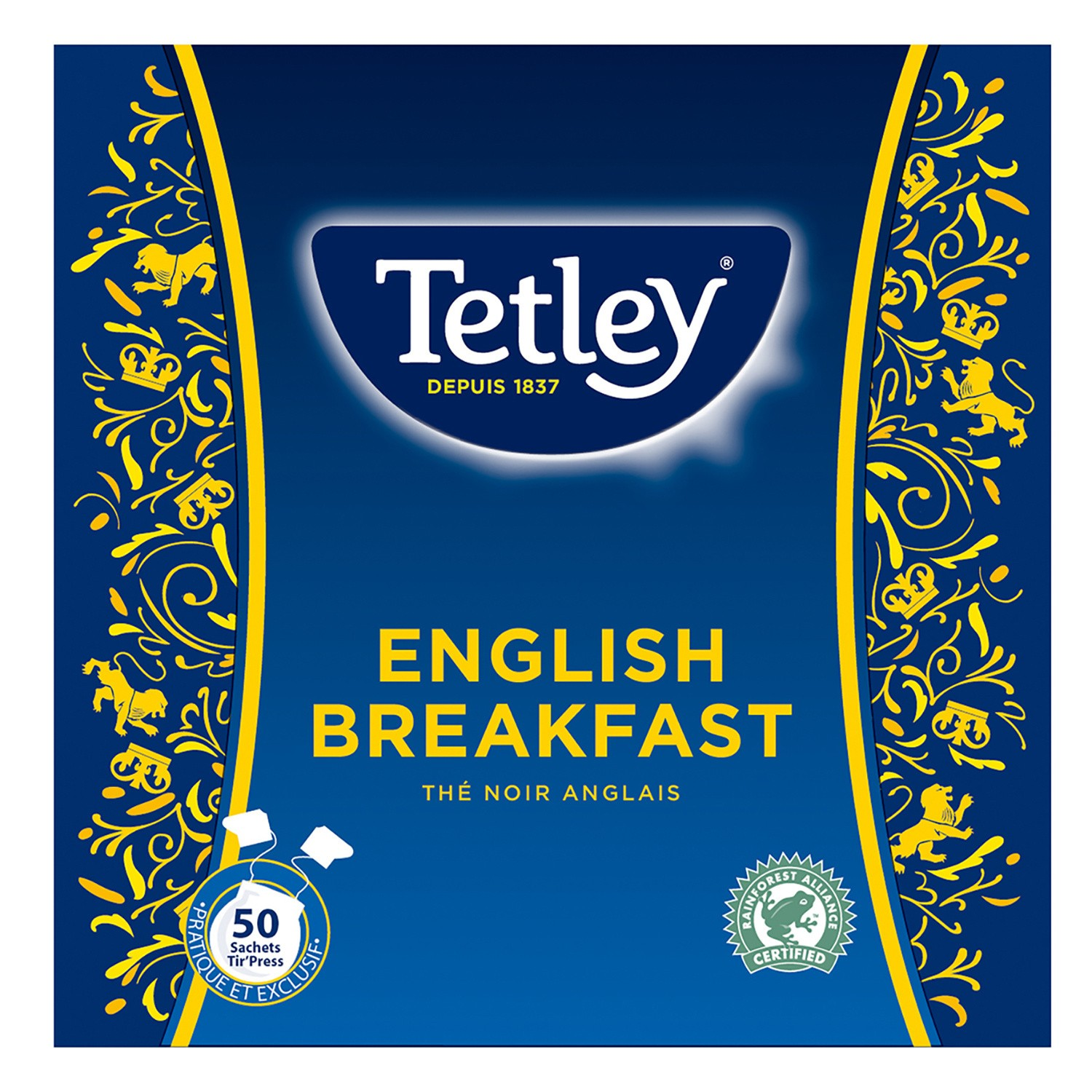 Thé English Breakfast, Tetley (50 sachets)