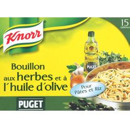 Bouillon aux herbes et à l'huile d'olive, Knorr (15 x 10 g)