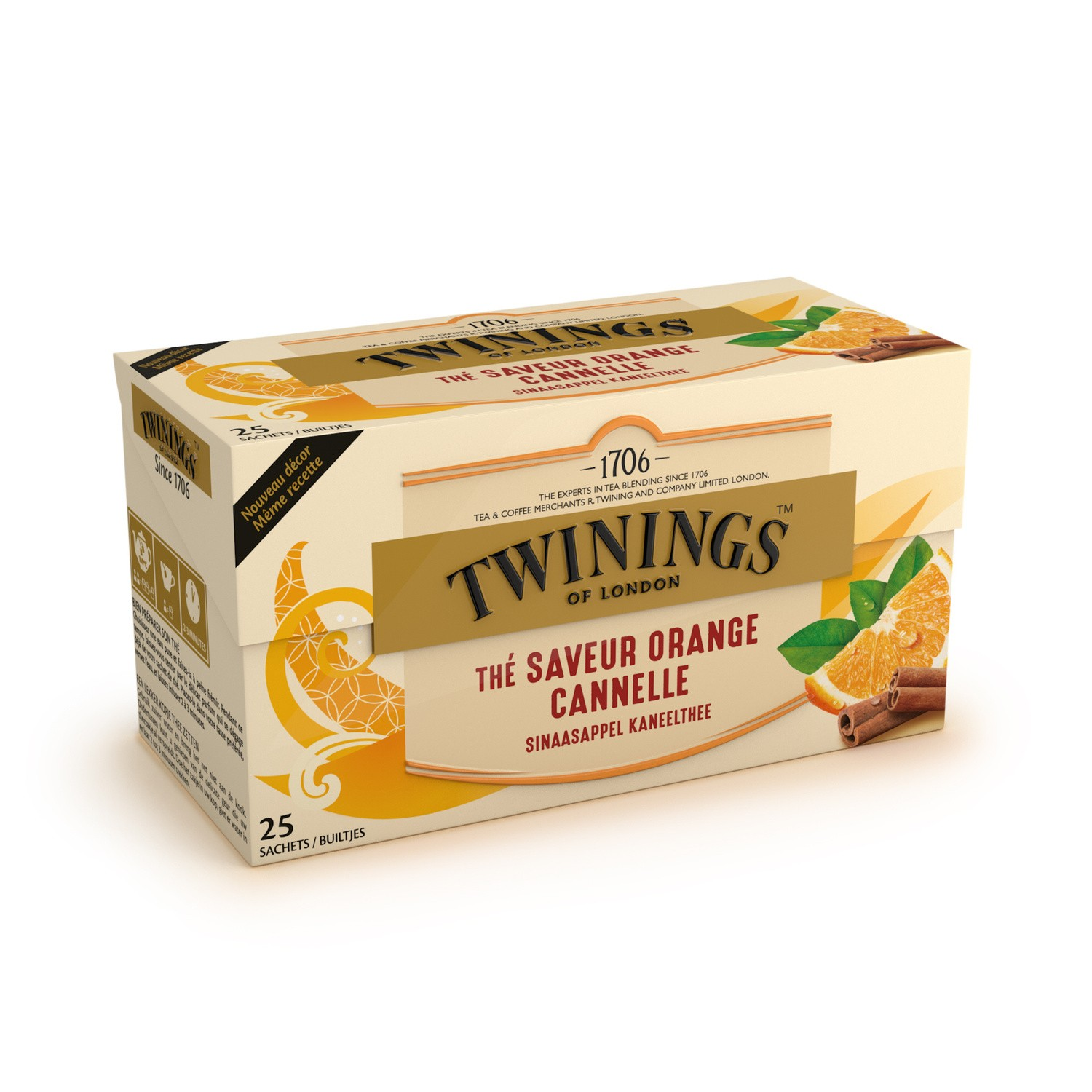 Thé orange cannelle, Twinings (25 sachets)