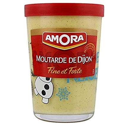 Moutarde forte verre tv, Amora (195 g)