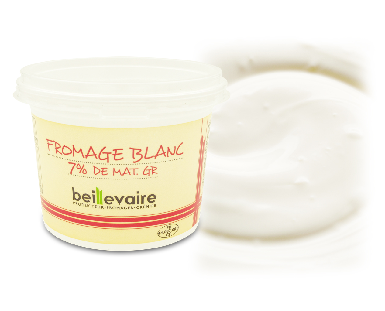 Fromage blanc 7%, Beillevaire (500 g)