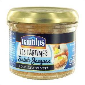 Tartinable St-jacques/coco citron vert, Nautilus (90 g)