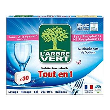 Tablettes écologiques lave-vaisselle tout en 1, L'Arbre Vert (x 30)