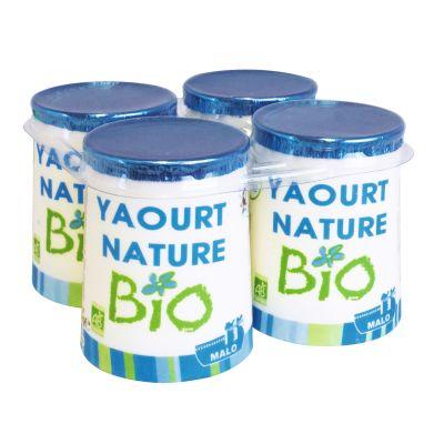 Yaourt nature BIO, Malo (4 x 125 g)
