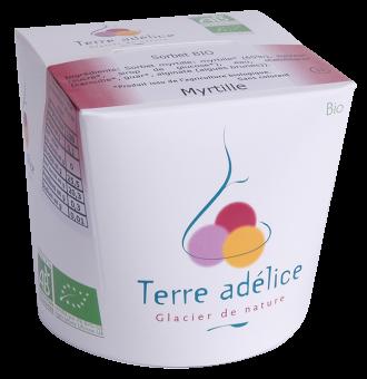Sorbet à la myrtille, Terre Adélice (500 ml)