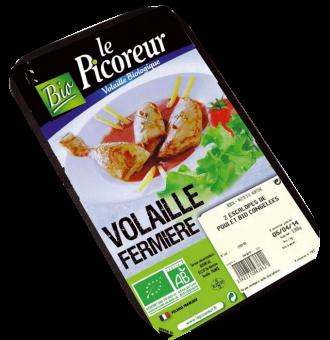 Escalopes de poulet surgelé BIO, Le Picoreur (250 g)