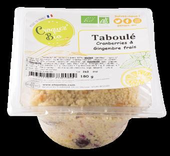 Taboulé aux cranberries et au gingembre frais BIO, Etape Bio (160 g)