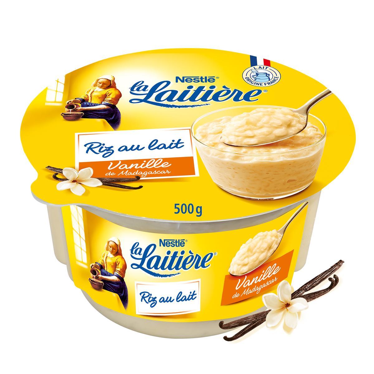 Riz au lait saveur vanille, La Laitière (500 g)