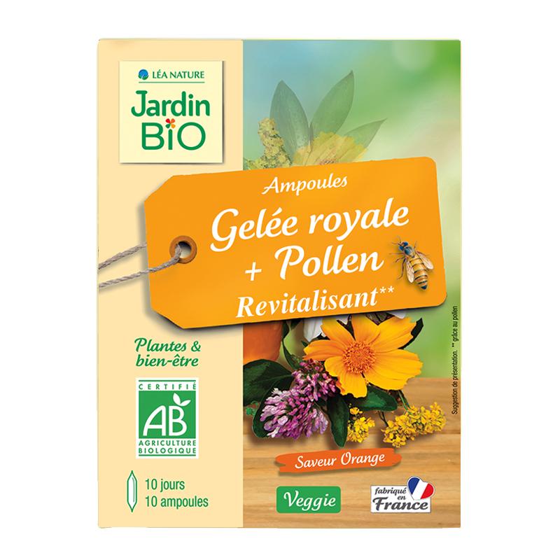 Ampoules Revitalisant - Gelée royale & Pollen BIO (x 10)