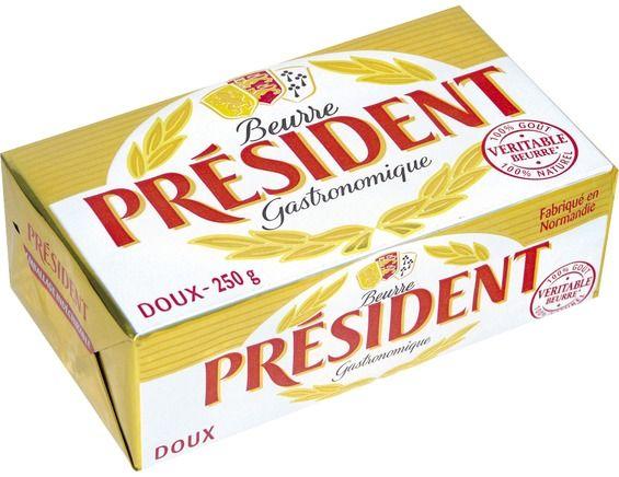 Beurre doux gastronomique, Président (250 g)