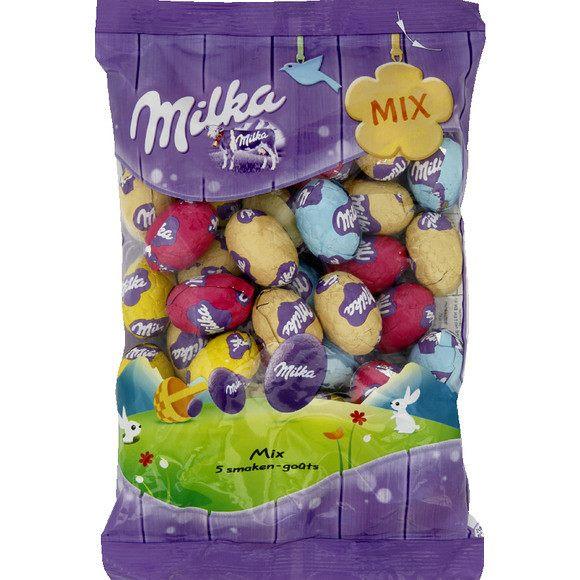 Petits oeufs 5 goûts, Milka (350 g)