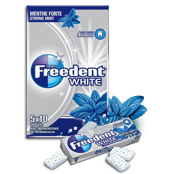 Chewing-gum dragée Menthe douce sans sucre, Freedent (5 x 10 dragées)