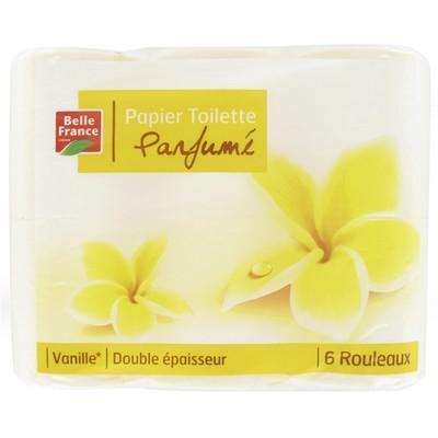 Papier toilette parfumé vanille ou pêche, Belle France (x 6)